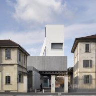 OMA adds white concrete gallery tower to Fondazione Prada art centre in Milan