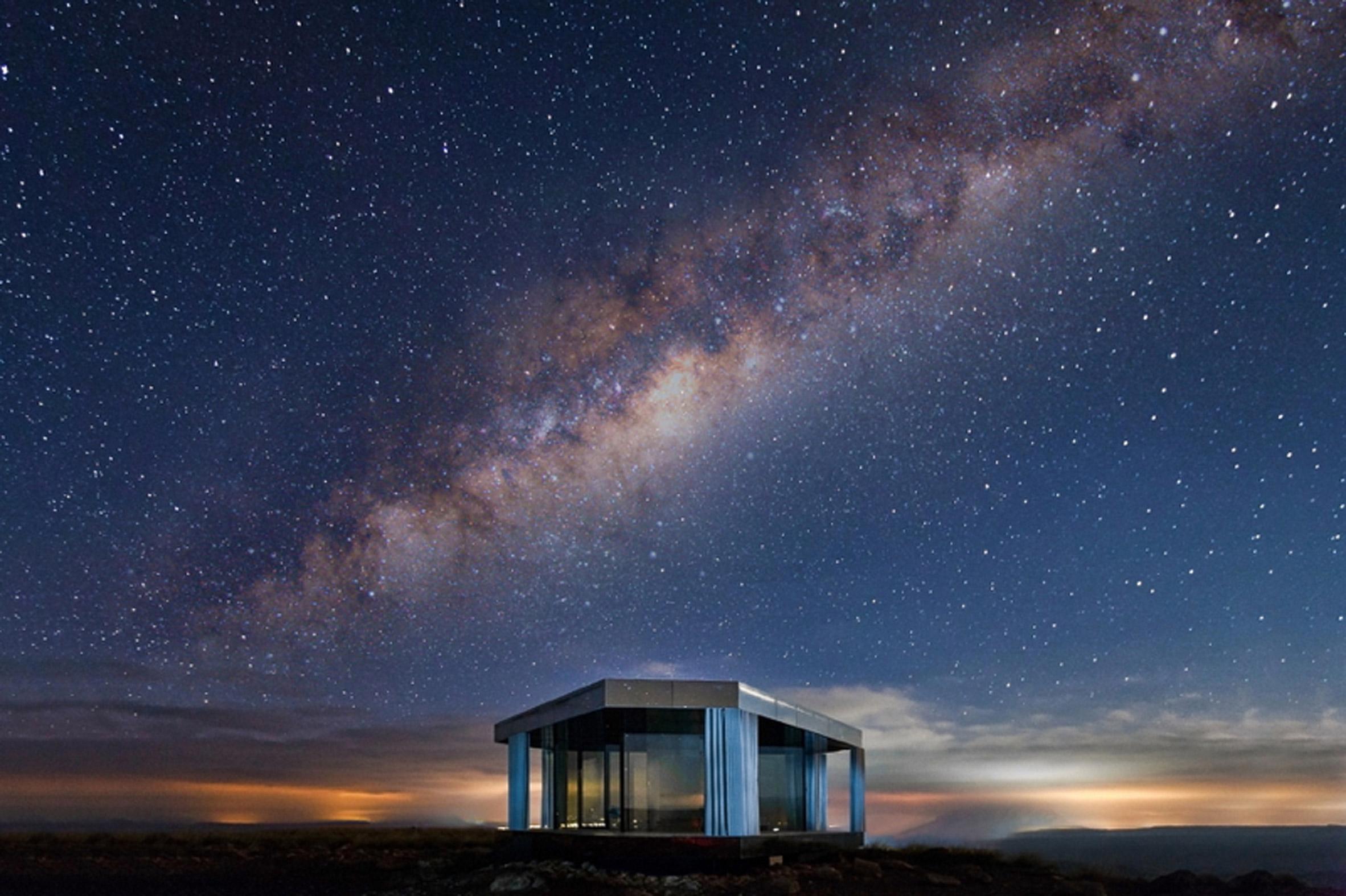 Glass Pavilion by OFIS Arhitekti provides a platform for star gazing in a Spanish desert
