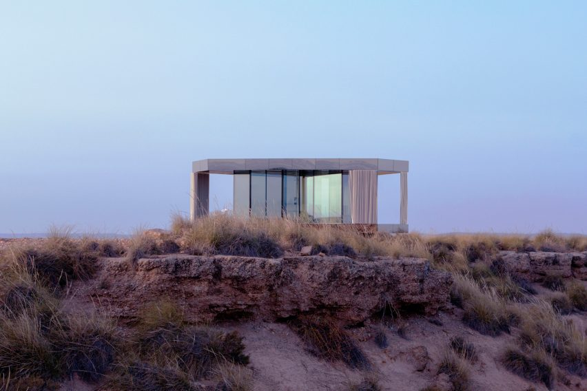 Glass Pavilion by OFIS Arhitekti provides a platform for star gazing in a Spanish desert