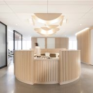 Natasha Thorpe uses timber to soften mood at Quebec dental office