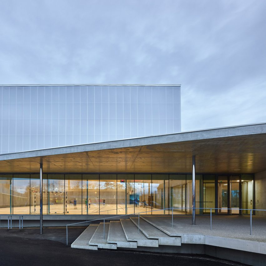 Human Rights sports centre in Strasbourg by Dominique Coulon & Associés
