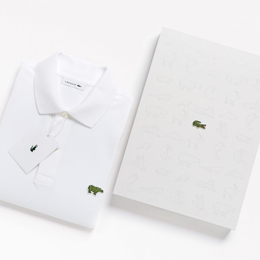 765b013fb Lacoste's crocodile logo is replaced by endangered species for limited edition  polo shirts