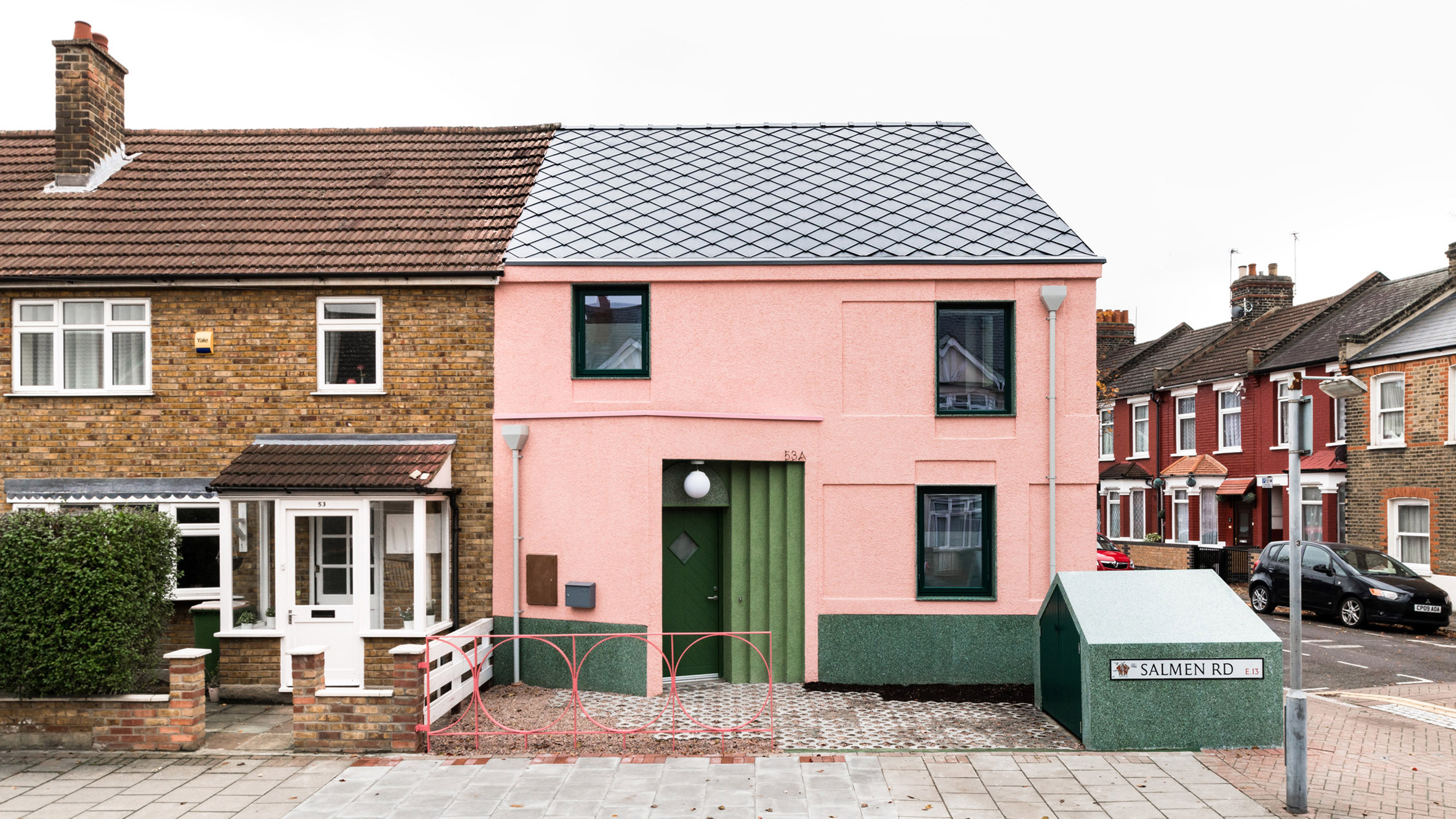 """Pink and green house by Office S&M offers antidote to London's """"dire rental market"""""""
