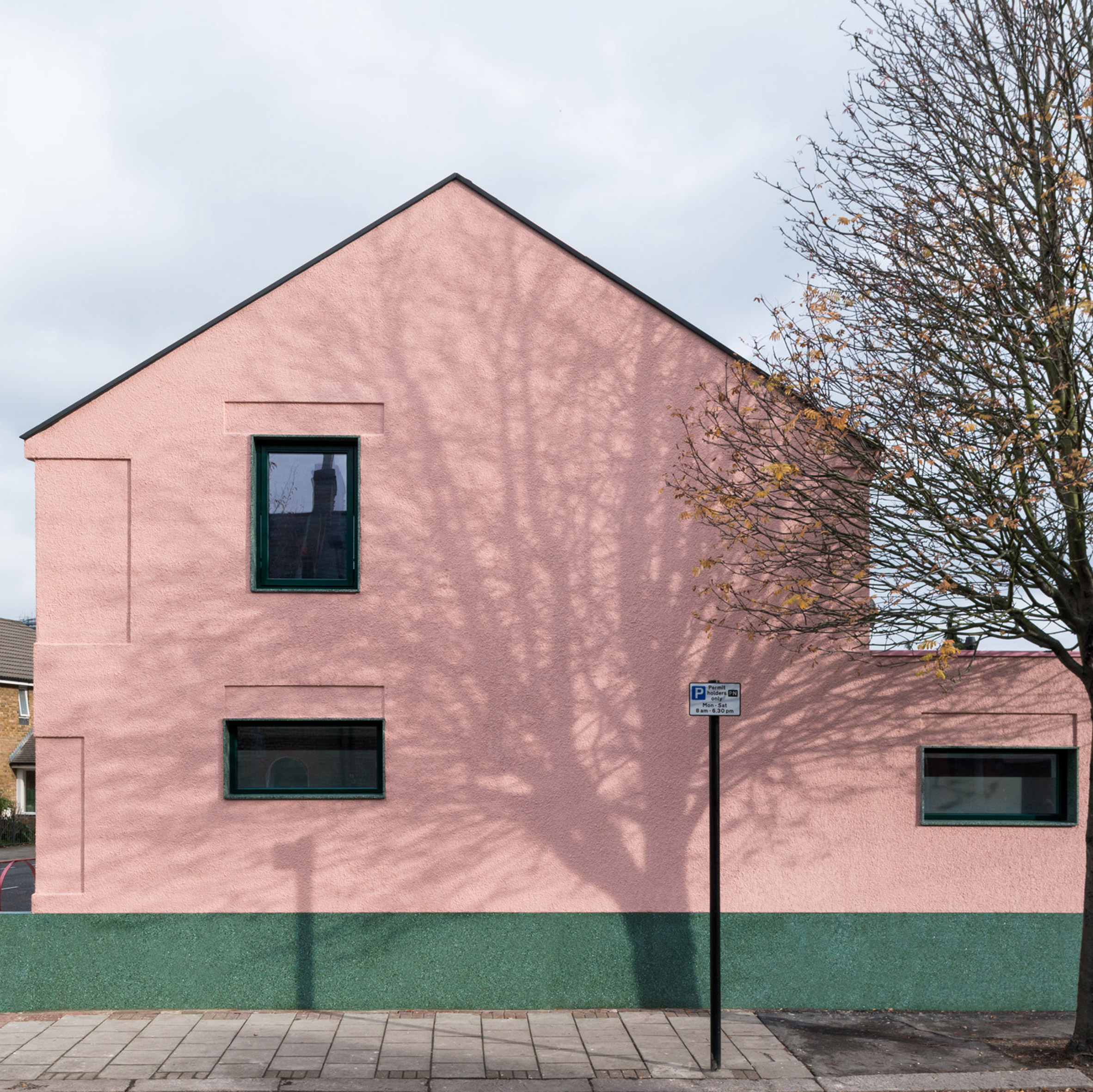 Pink and green house offers antidote to London\'s \