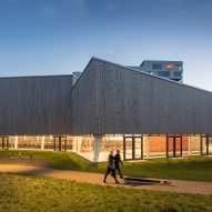 NORD Architects creates angular timber-clad sports centre in Copenhagen