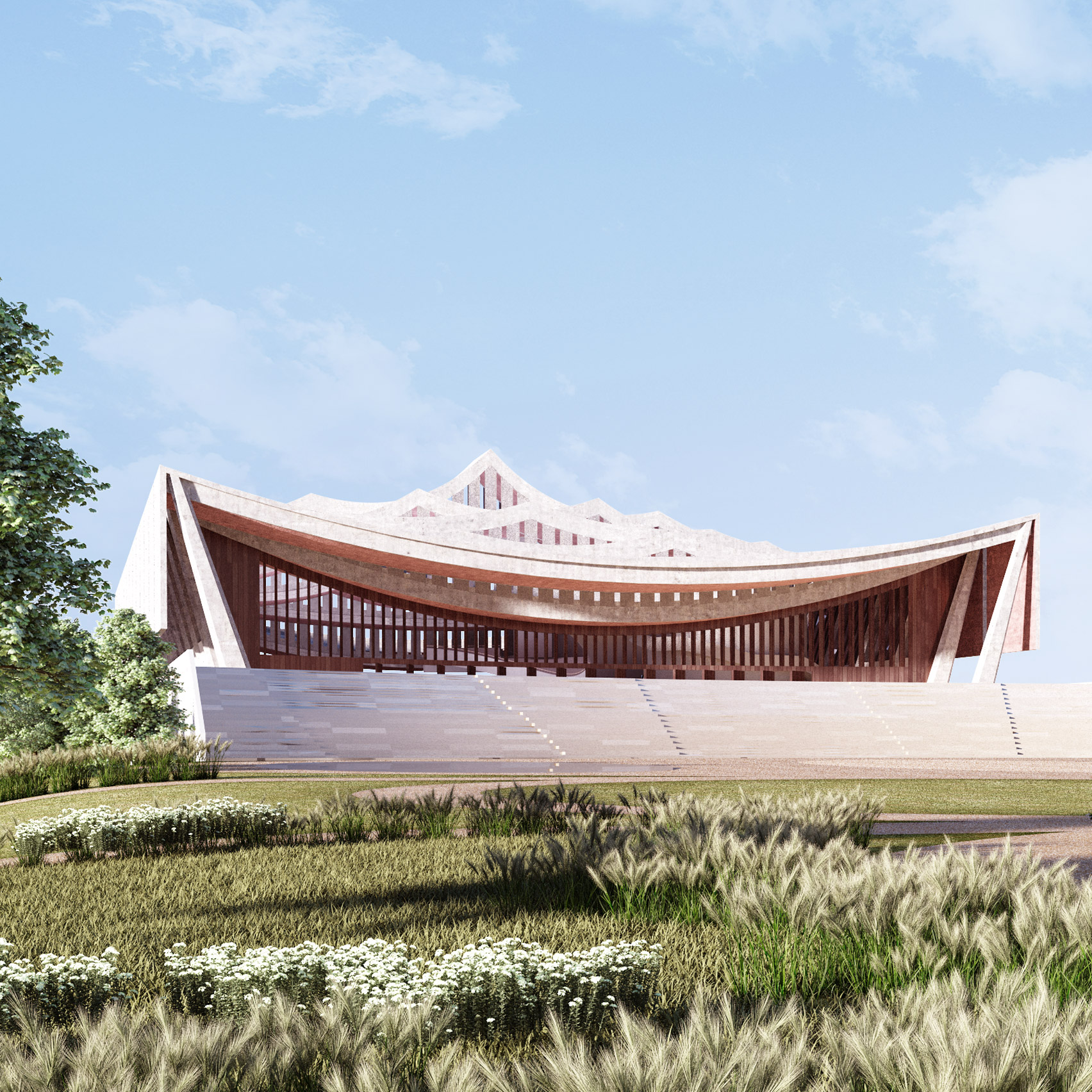 Courtyard Plans David Adjaye Unveils Plans For National Cathedral Of Ghana