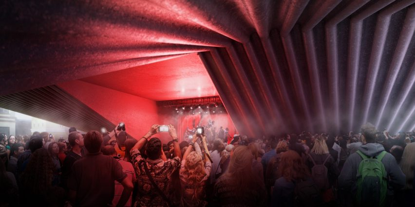 "BIG designs ""bow-tie-shaped"" theatre for Albania's capital city"