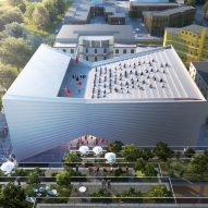 "BIG designs ""bow-tie-shaped"" theatre for Albania's capital"