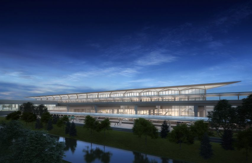 Newark Liberty Terminal One by Grimshaw