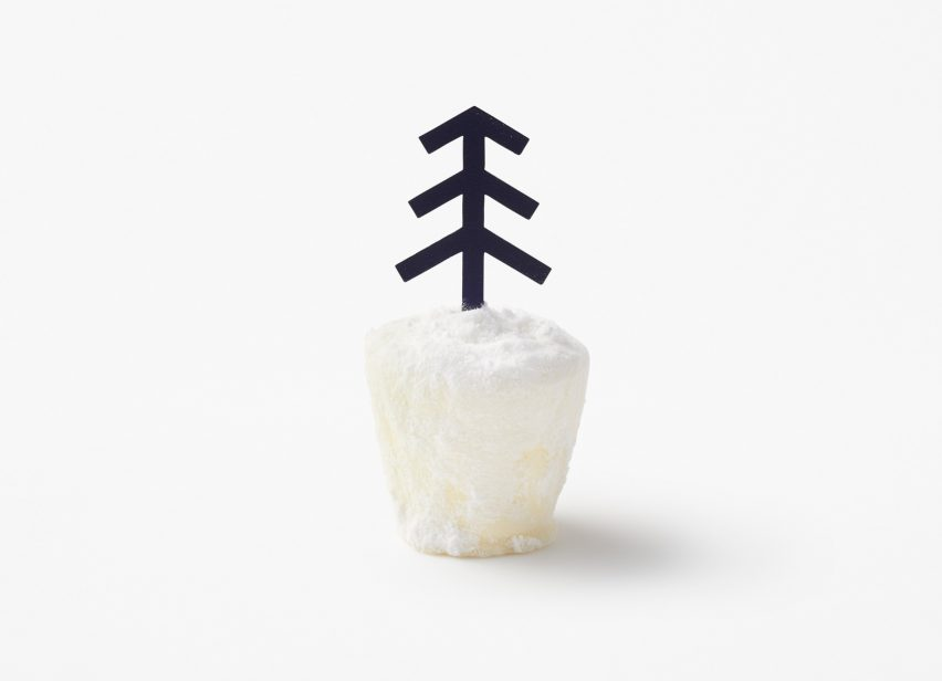 Nendo designs cheesecake that looks like a snowy landscape