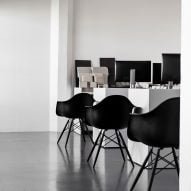 Self-designed office by Nicole Hollis studio