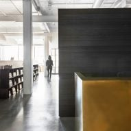 Nicole Hollis creates blackened wood library for its San Francisco studio
