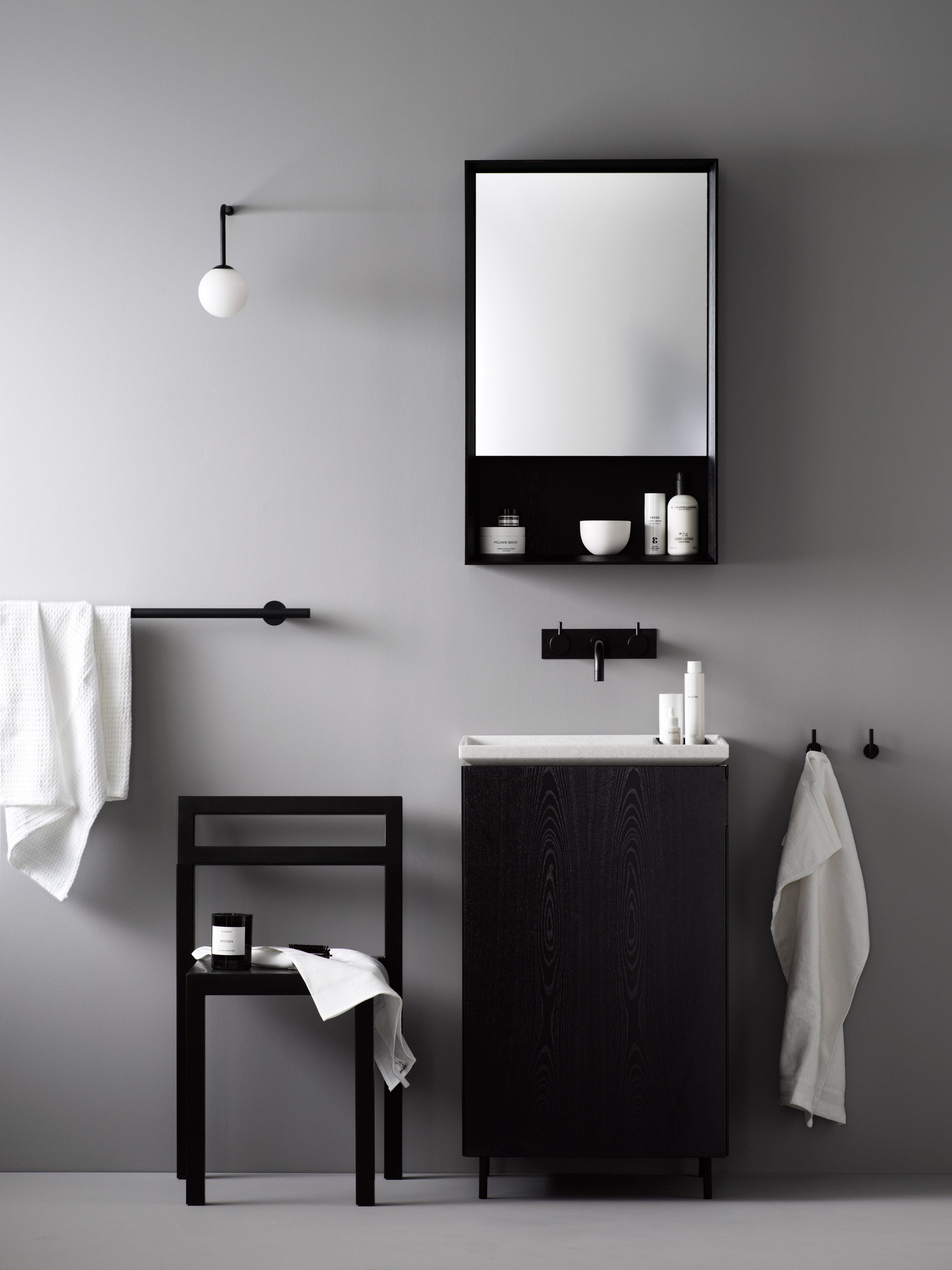 Norm Architects creates bathroom collection for small-space living