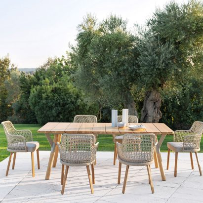 Monica Armani creates outdoor chair with woven backrest for Varaschin - Outdoor Furniture Design Dezeen Magazine