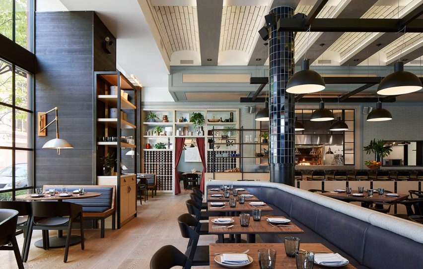The Proxi restaurant occupies former printing house in Chicago