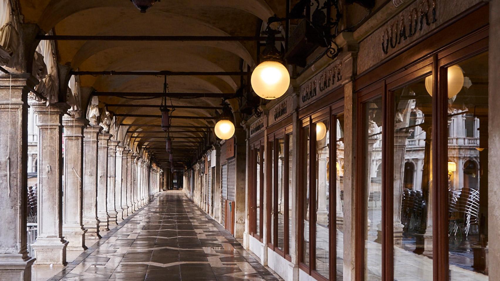 Philippe Starck restores time-worn interiors of the Quadri restaurant in Venice