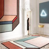 Patricia Urquiola's colour-blocked rugs create optical illusions