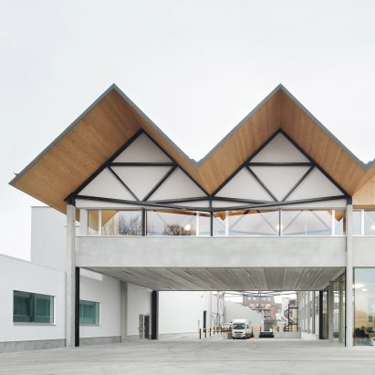 office design architecture. Factory With Pitched Roofs Designed To Complement Terraced Housing Office Design Architecture