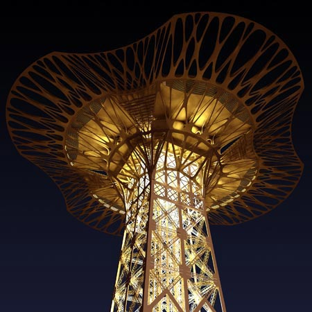 Serero Architects to add giant platform to the top of the Eiffel Tower