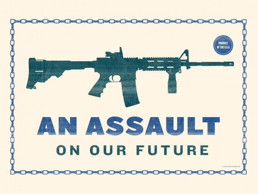 Shepard Fairey's An Assault On Our Future poster