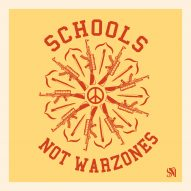 Shepard Fairey creates posters to protest school gun violence