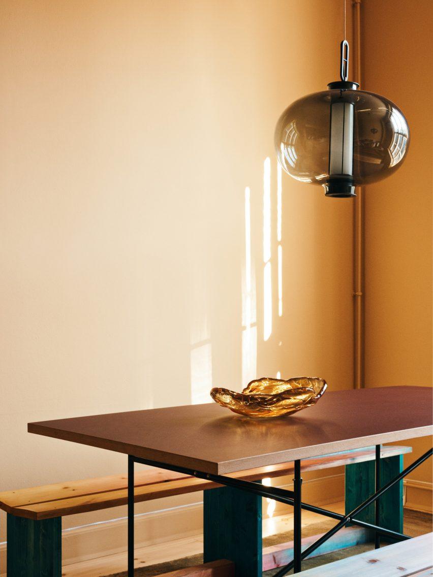 Gold Reform kitchen in Stine Goya Copenhagen offices