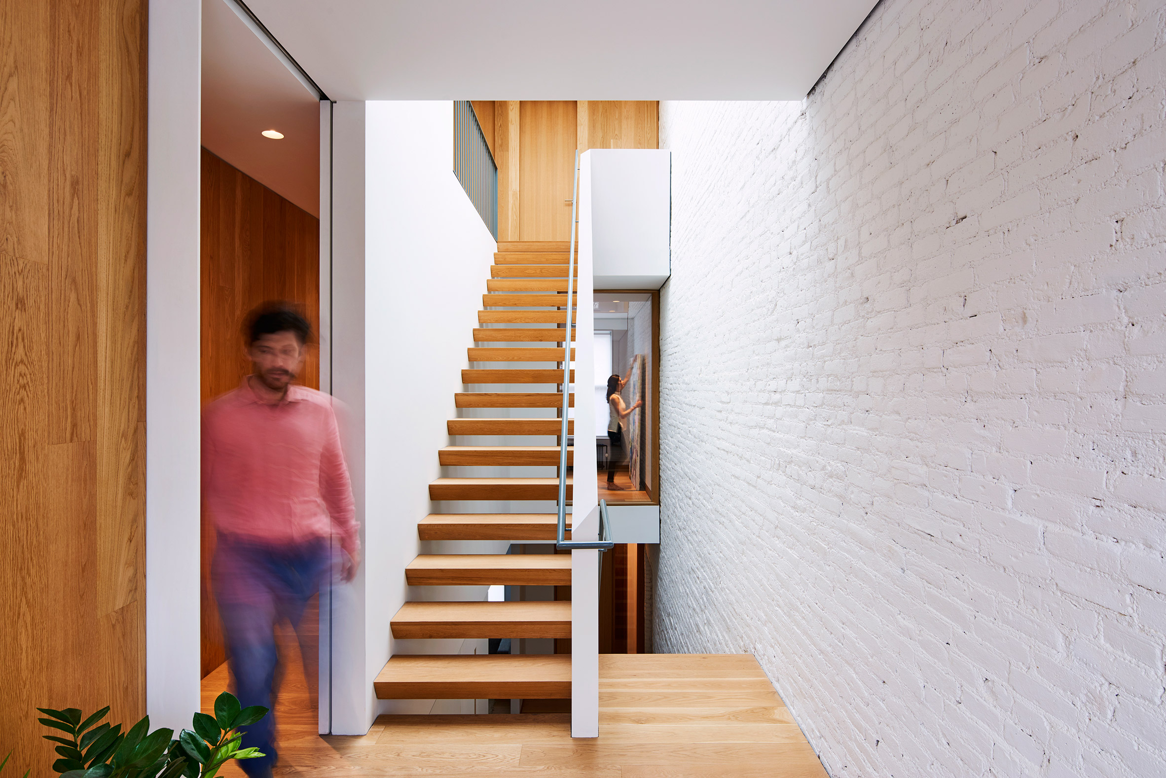 "Light and Air Architecture transforms Brooklyn row house with ""switchback"" staircase"