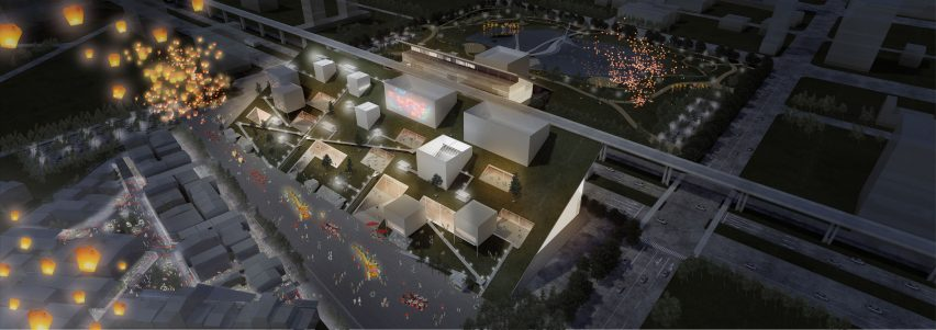 Taoyuan Museum of Art in Taiwan, designed by Riken Yamamoto & Field Shop and Joe Shih Architects