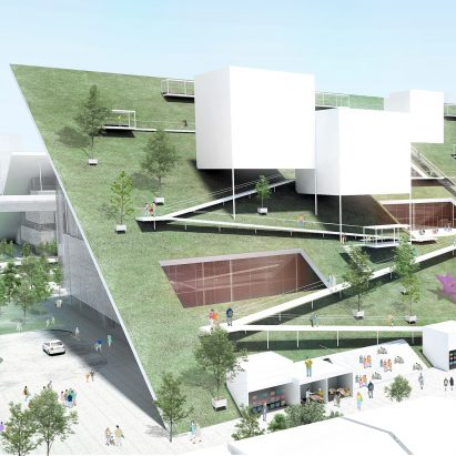 Taoyuan Museum of Art in Taiwan, designed by Riken Yamamoto & Field Shop and Joe Shih Architects