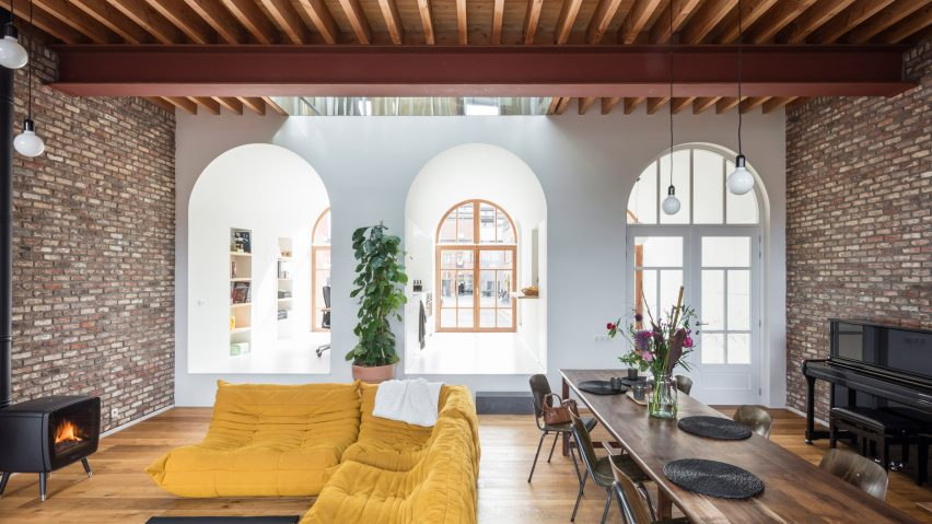 Ghent house by Atelier Vens Vanbelle features arching spaces