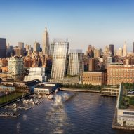 BIG releases new image of twisted residential towers in New York