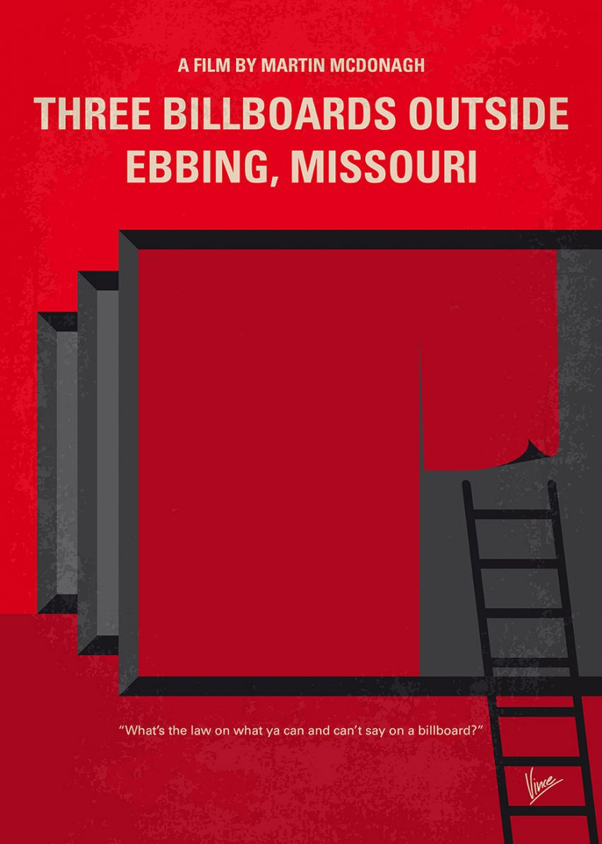 Three Billboards Outside Ebbing, Missouri minimal move poster