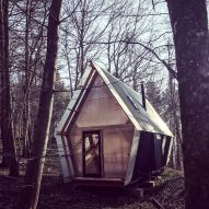 Low-cost micro home is made from timber and scavenged materials