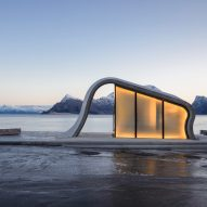 HZA adds wave-shaped toilet facility to scenic Norwegian lay-by
