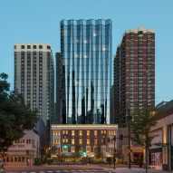 Pleated glass tower tops Viceroy Chicago hotel by Goettsch Partners