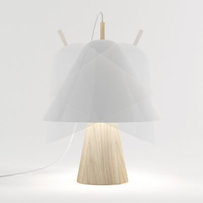 Simone Gerbino's design for a hat-inspired lamp was shortlisted for TalentLab, the brand's platform for emerging designers.