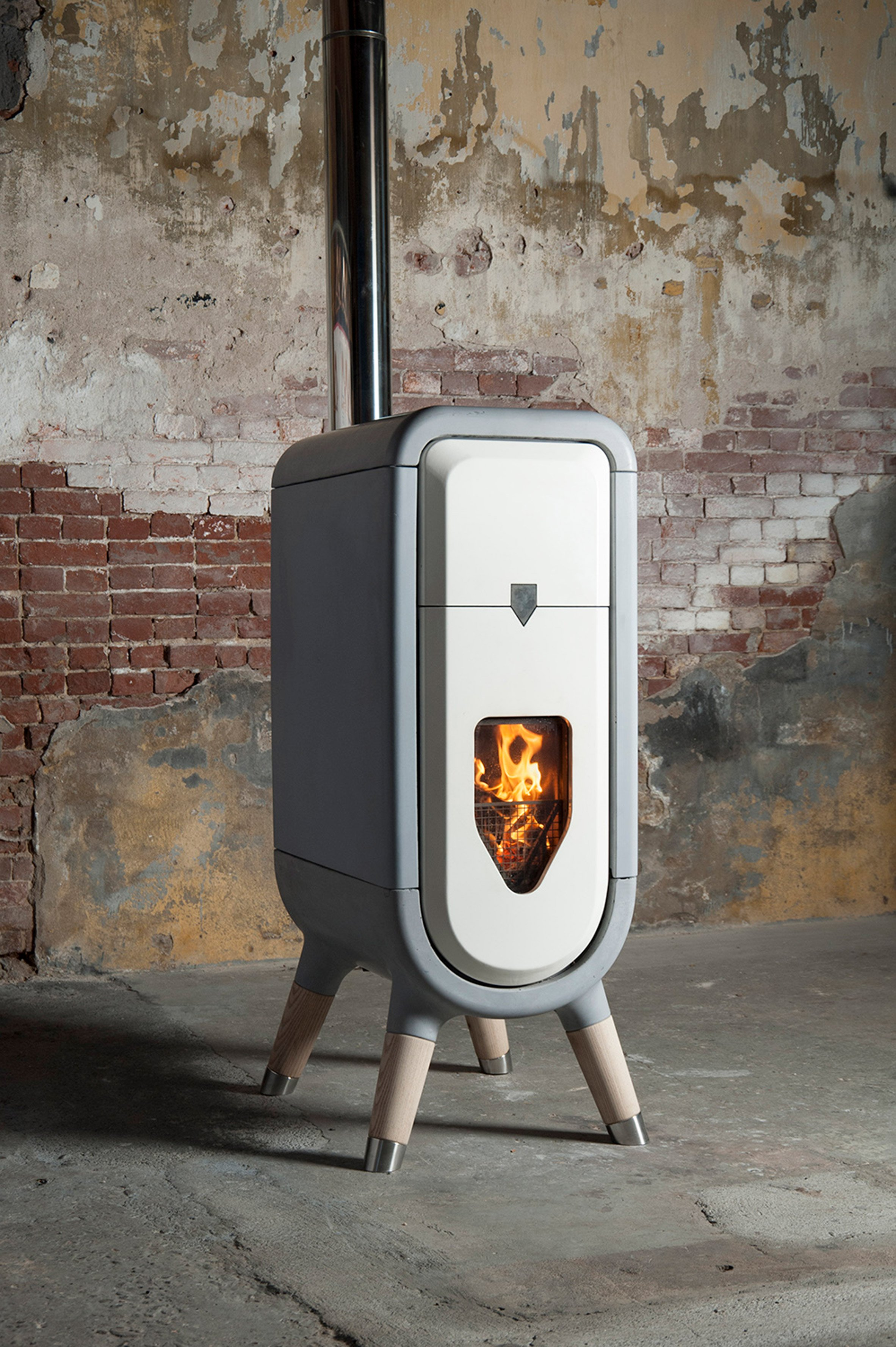 Tjep designs sustainable wood burner for the modern home