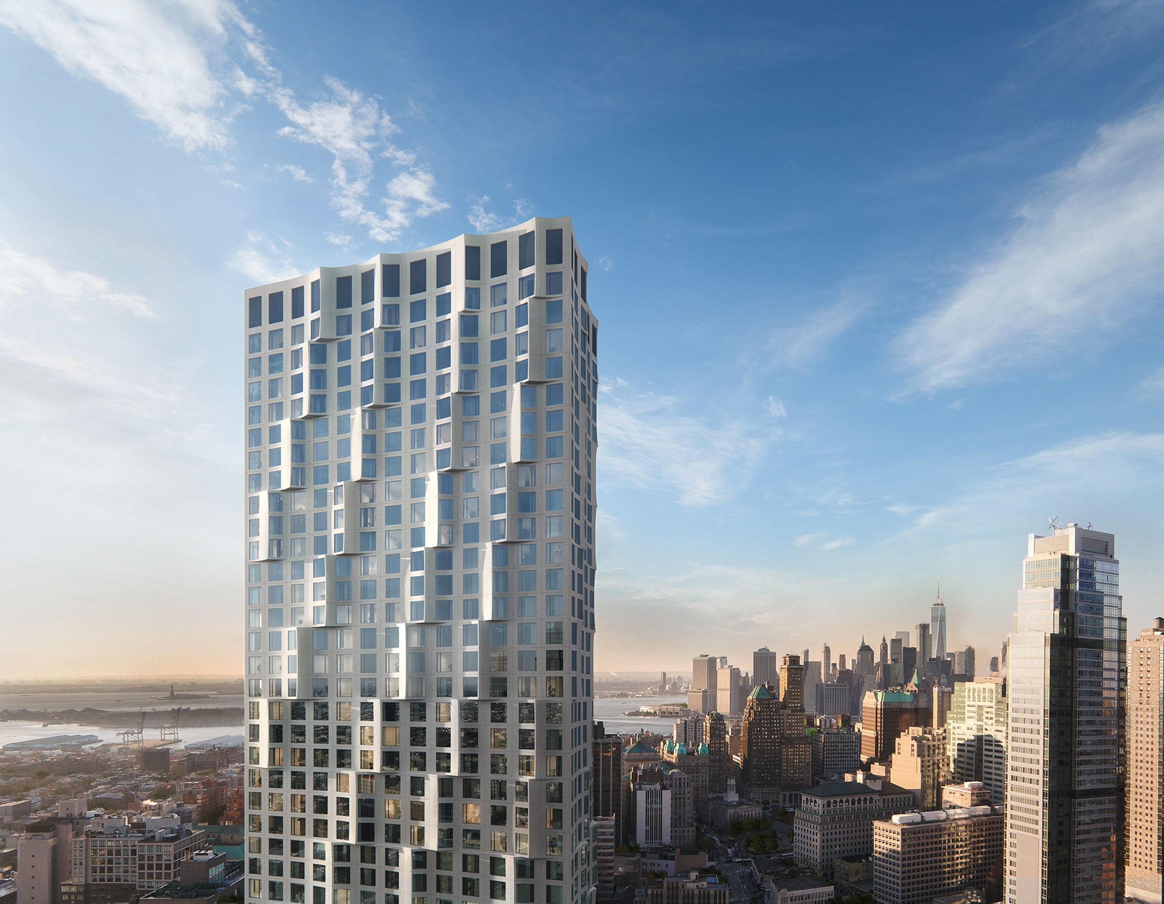 Studio Gang unveils scalloped concrete condo tower for Brooklyn