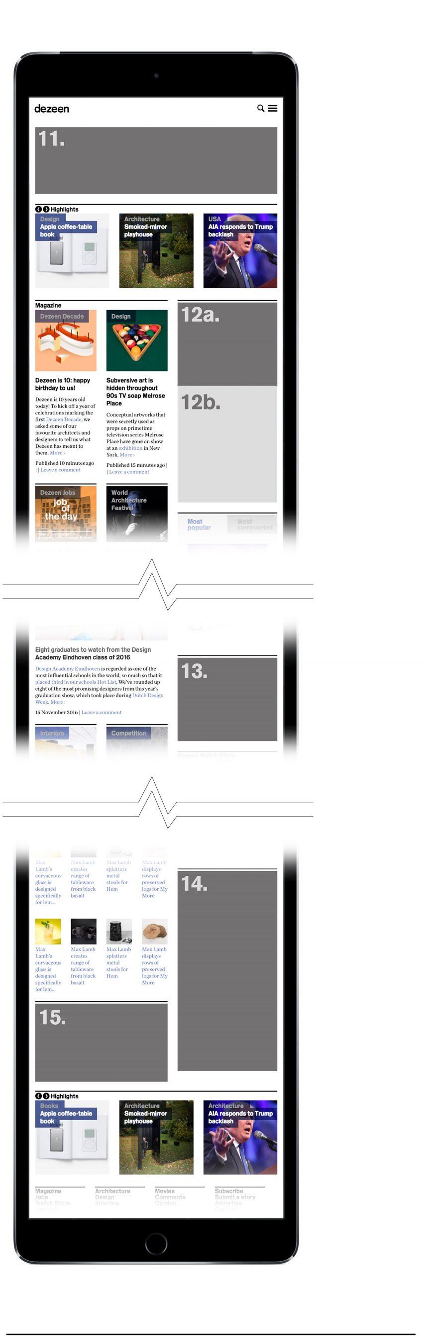advertising information dezeen