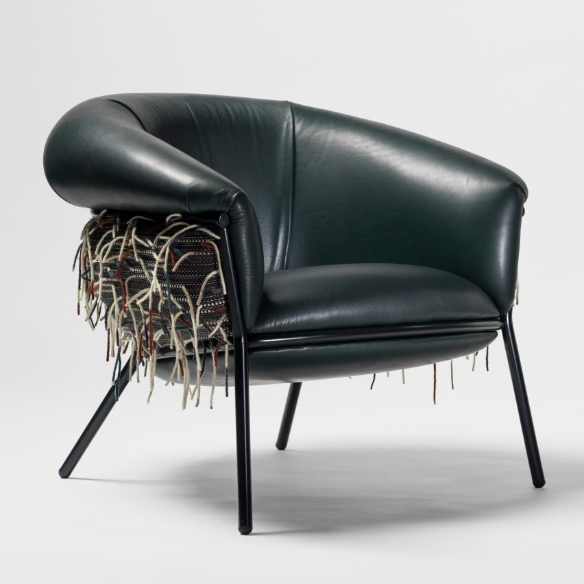 Stephen Burks has collaborated with Bolon to create new materials for his Grasso furniture collection for BD Barcelona Design