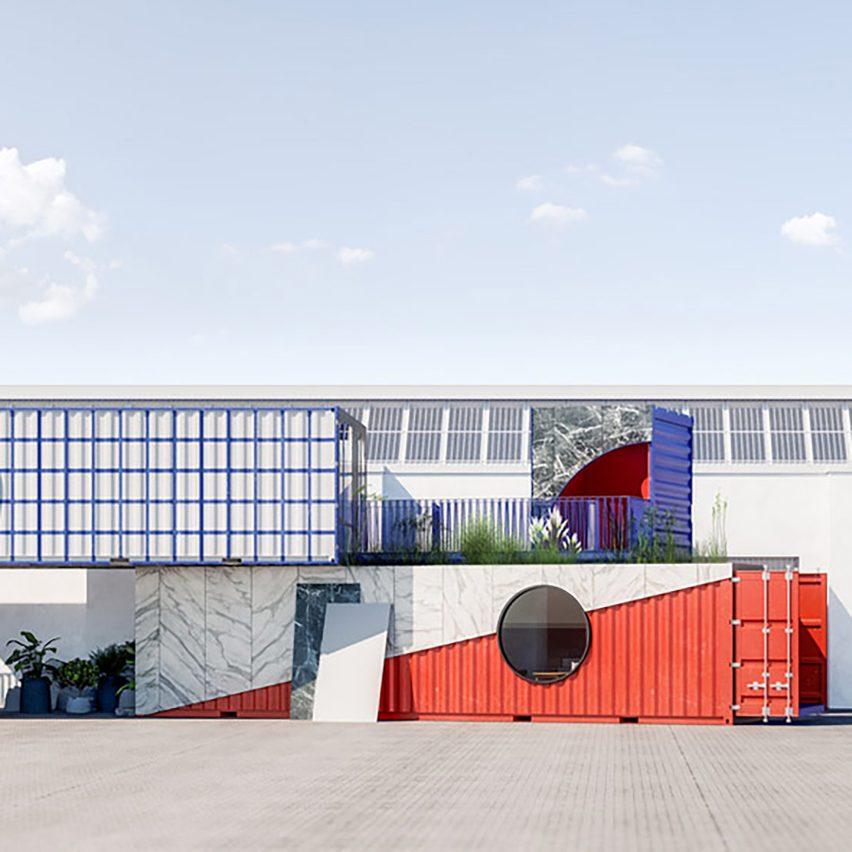 Containerwerk installation in Milan