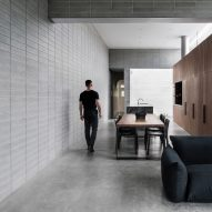 Masonry walls enclose courtyards and living spaces at Ritz&Ghougassian's Melbourne extension