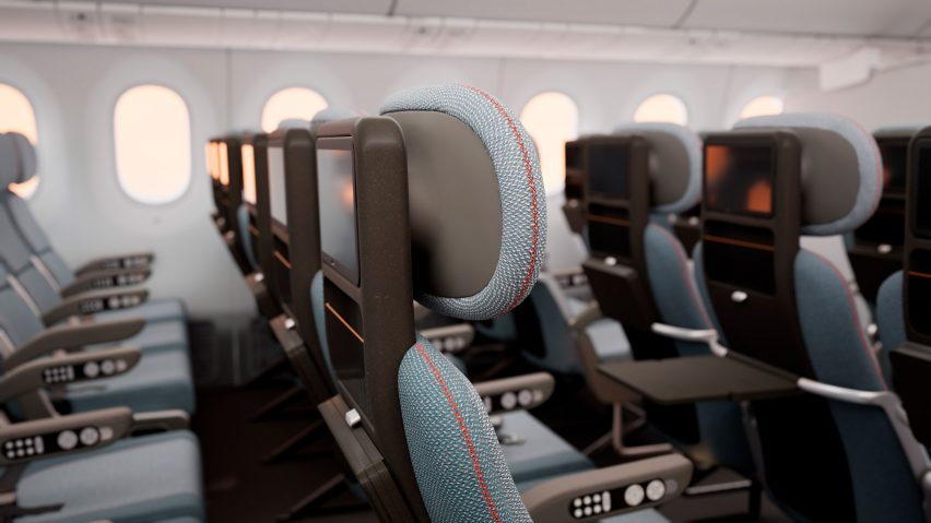 PearsonLloyd economy class airplane seating concept