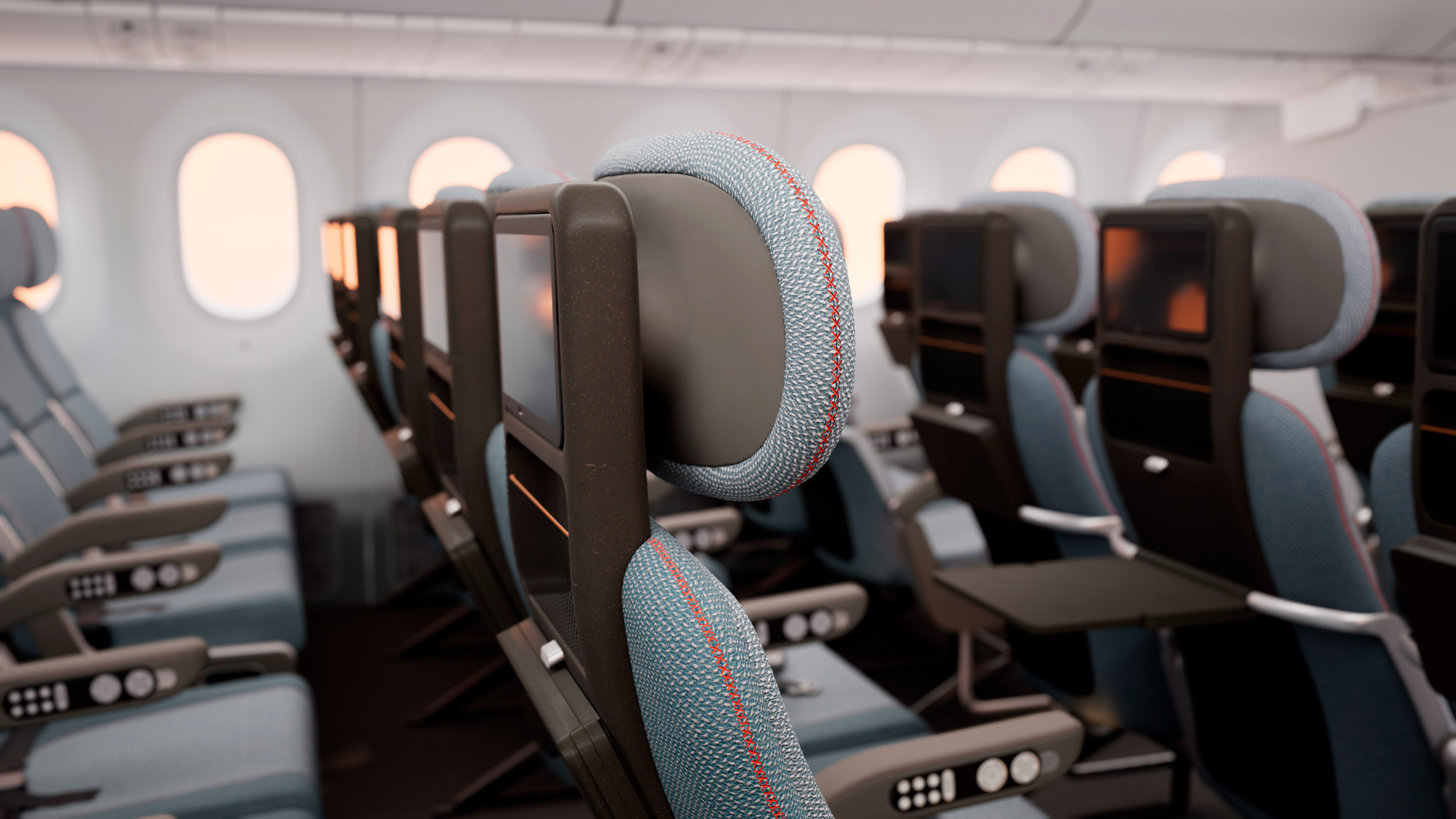 PearsonLloyd redesigns economy-class aeroplane seating to make better use of space