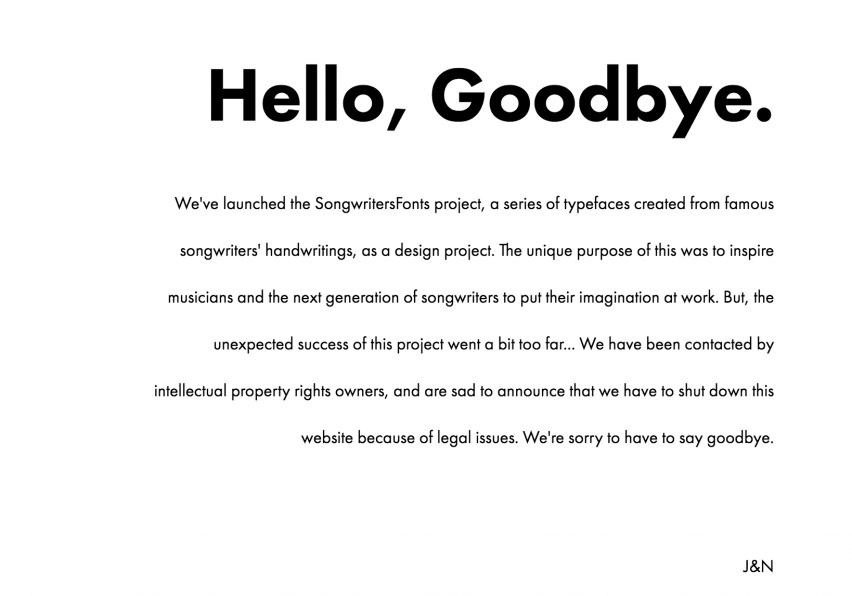 Musician-inspired fonts website forced to close after going viral