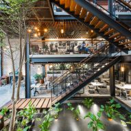 Le House fills An'garden Cafe with plants to create an oasis in bustling Hanoi