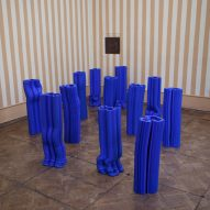 Anton Alvarez adopts Yves Klein's signature blue for extruded vases