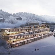 BIG reveals plans for Swiss hotel with zigzagging ski slope on its roof