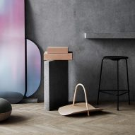 Benjamin Hubert uses steam-bending to create curving wooden basket for Fritz Hansen