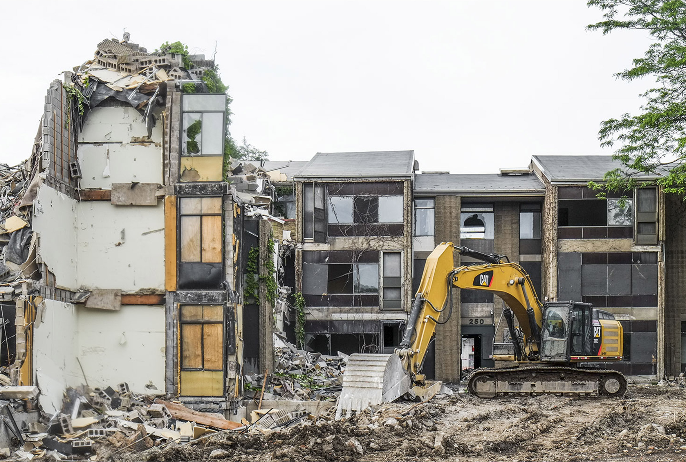 Destruction of brutalist buildings shown at Boston photography exhibition